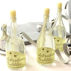 Ivory Champagne Bottle Wedding Bubbles Pack of 24
