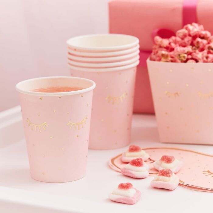 Ginger Ray Pink Pink Pamper Party Paper Cups