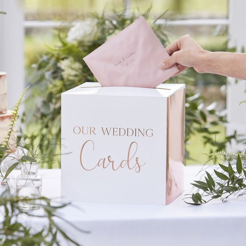 Ginger Ray Rose Gold Wedding Card holder