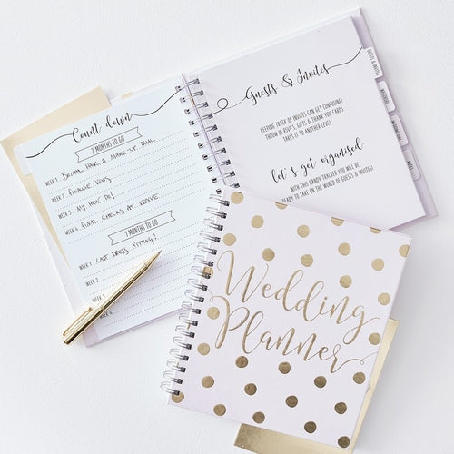 Ginger Ray Luxury Gold & White Wedding Planner