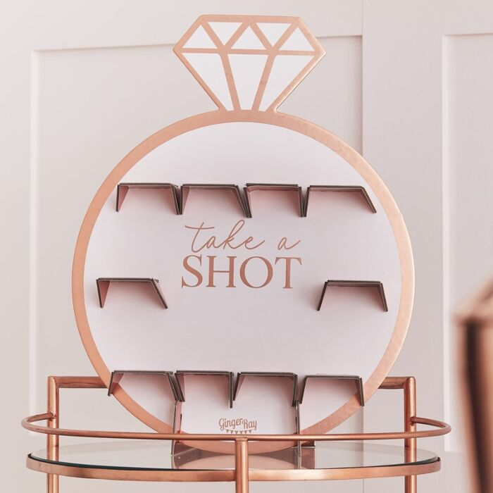 Ginger Ray Rose Gold Hen Party Drinks Shot Wall