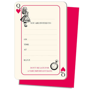 Truly Alice in Wonderland Hen Party Invitations Pack of 8