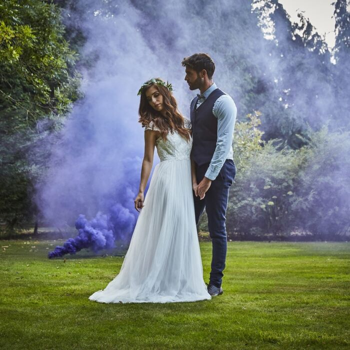 Ginger Ray Purple Wedding Smoke Bomb