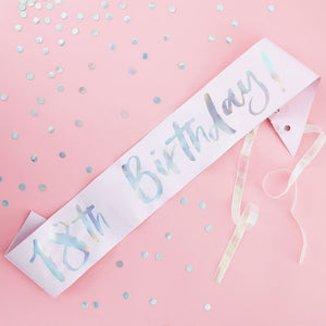 Ginger Ray 18th Birthday Sash