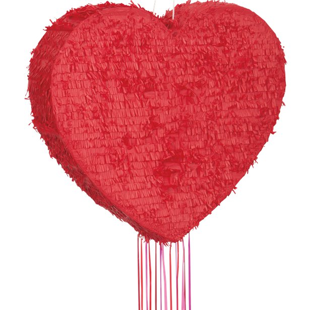 Red Heart Pull Pinata