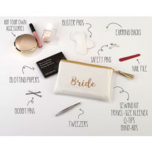 Load image into Gallery viewer, Lillian Rose Bride Gold Wedding Day Survival Kit