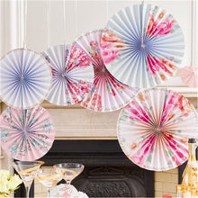 Load image into Gallery viewer, Talking Tables Truly Romantic Pinwheel Decorations Pack of 6