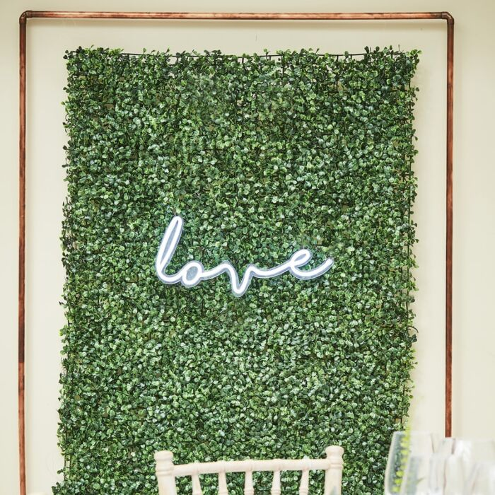 Ginger Ray Flower Wall Foliage Tile Backdrop