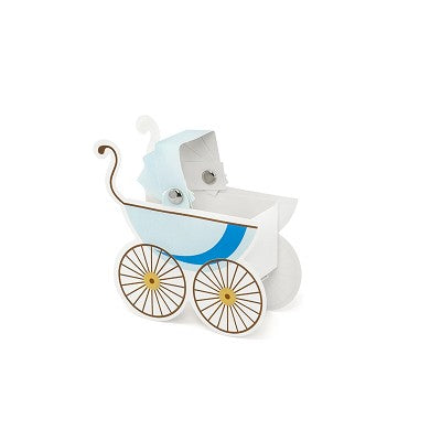 Pram favour Boxes Blue Pack of 10