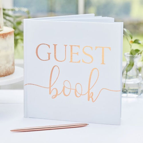Ginger Ray Rose Gold Foil Wedding Guest Book