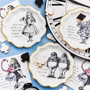 Truly Alice in Wonderland Theme Paper Plates Pack of 12