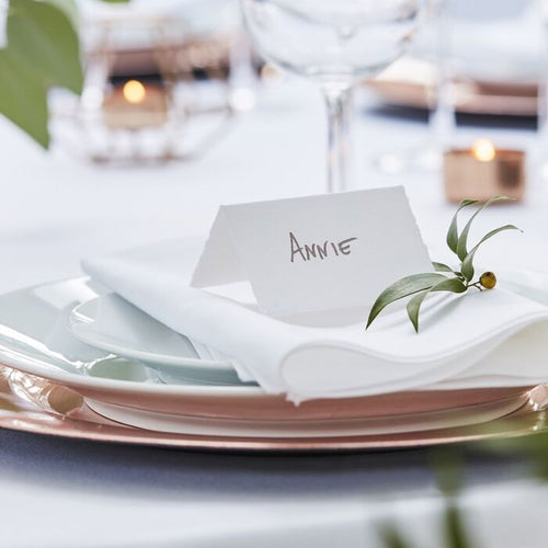 Ginger Ray White Cotton Paper Place Cards