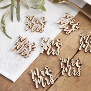 Ginger Ray Mr & Mrs Wooden Table Confetti