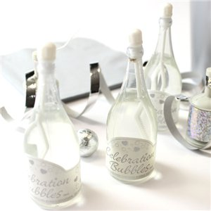 White Champagne Bottle Wedding Bubbles Pack of 24