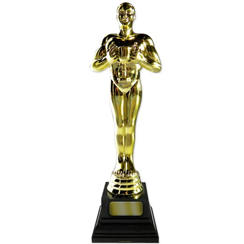Hollywood Awards Night Golden Statue Cardboard Cutout