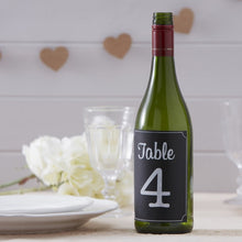 Load image into Gallery viewer, Ginger Ray Chalkboard Bottle Sticker Table Numbers 1-12