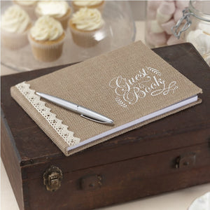 Ginger Ray Hessian Burlap Guest Book