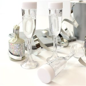 Champagne Glasses Wedding Bubbles Pack of 24