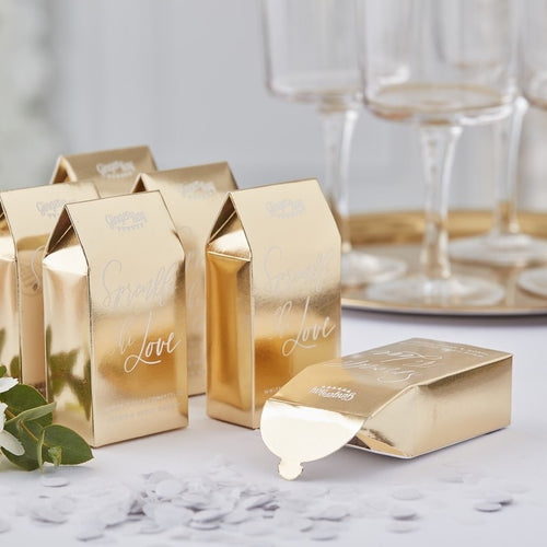 Ginger Ray Biodegradable Gold Confetti Boxes Pack of 20