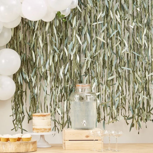 Ginger Ray Botanical Leaf Ribbon Backdrop