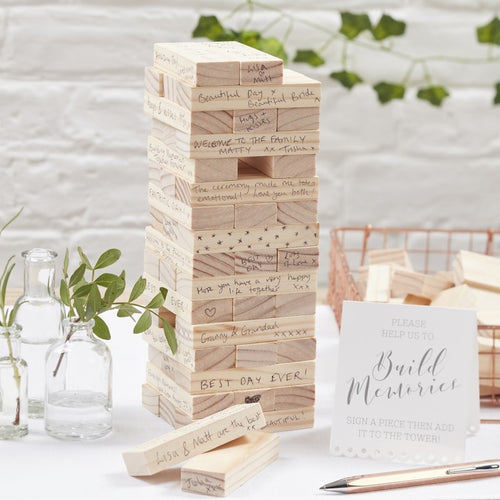 Ginger Ray Build a Memory Building Blocks Guest Book