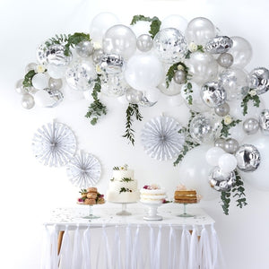 Ginger Ray Silver Balloon Arch Kit
