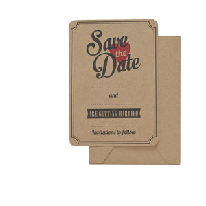Ginger Ray Save the Date Kraft Cards Pack of 10