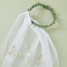 Load image into Gallery viewer, Ginger Ray Eucalyptus Bride To Be Hen Party Veil