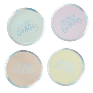 Ginger Ray Birthday Pastel Paper Plates