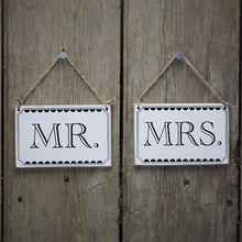 Load image into Gallery viewer, Ginger Ray Vintage Mr & Mrs Chair Signs