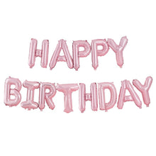 Load image into Gallery viewer, Ginger Ray Matte Pink Happy Birthday Balloon Bunting