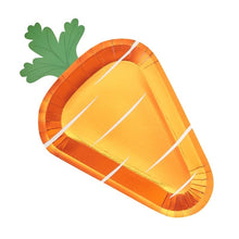 Load image into Gallery viewer, Ginger Ray Carrot Shaped Easter Paper Plates