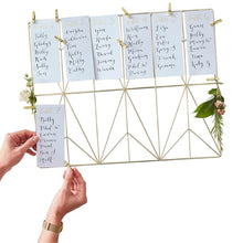 Load image into Gallery viewer, Ginger Ray Gold Wedding Table Planning Set