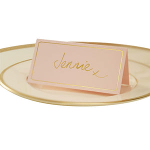 Ginger Ray Pink & Gold Foil Wedding Place Cards Pack of 10
