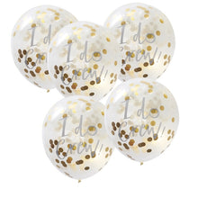 Load image into Gallery viewer, Ginger Ray Gold I Do Crew Balloons Pack of 5