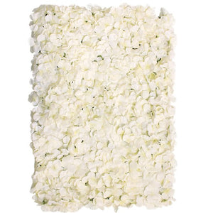 Cream Hydrangea Silk Flower Wall