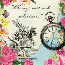 Load image into Gallery viewer, Truly Alice in Wonderland Pink Theme Paper Napkins Pack of 20