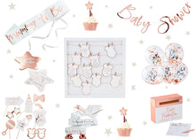 Load image into Gallery viewer, Rose Gold Baby Shower Package for 12 People