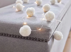 Talking Tables White Pom Pom Lights