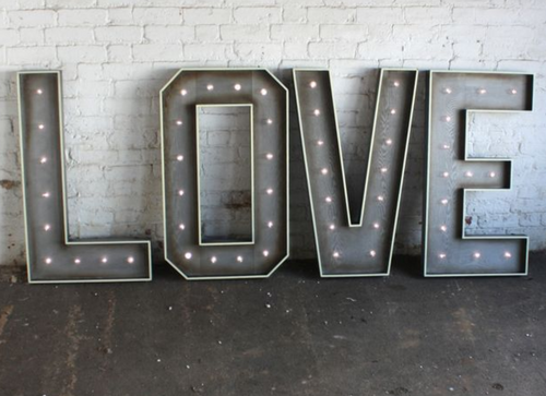 Giant Love Letters (102cm)