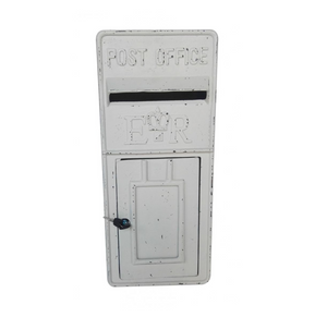 Antique Ivory ER Metal Post Box