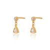 Load image into Gallery viewer, Triangle Crystal Drop Stud Earrings