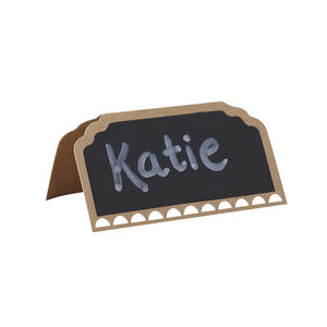 Ginger Ray Rustic Kraft Place Cards with a chalkboard effect
