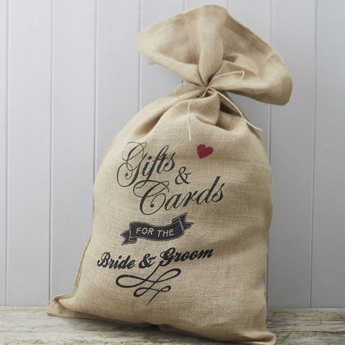 Ginger Ray Hessian Burlap Cards Wedding Sack