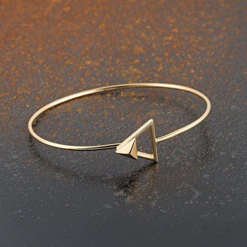 Pyramid Clasp Bangle