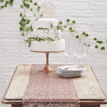 Load image into Gallery viewer, Ginger Ray Rose Gold Sequin Table Runner