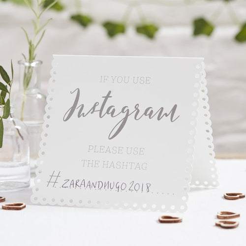 Ginger Ray Instagram Tent Cards