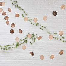 Load image into Gallery viewer, Ginger Ray Rose Gold Hanging Circle Garland