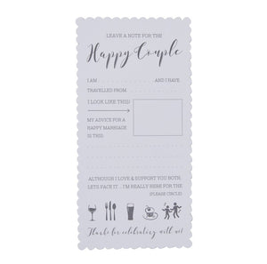 Ginger Ray Advice for the Happy Couple Cards