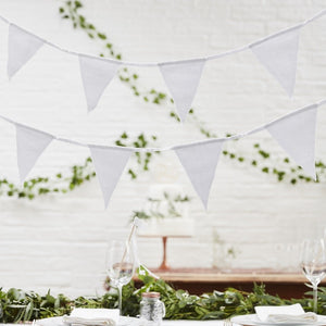 Ginger Ray White Fabric Bunting